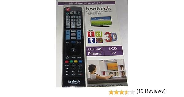 Mando Distancia Universal Para la Mayoría TV Televisores LG SIN INSTALACIÓN: Amazon.es: Electrónica