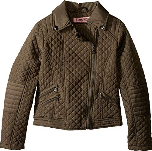 - Urban Republic Kids Moto Thinfill Quilted Jacket Little Kids/Big Kids Olive Girl's Coat