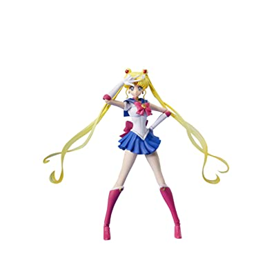 Bandai Tamashii Nations Sailor Moon Pretty Guardian Sailor Moon Action Figure: Toys & Games