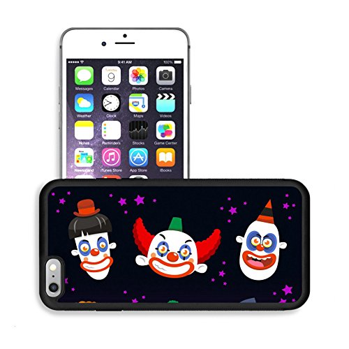 Luxlady Premium Apple iPhone 6 Plus iPhone 6S Plus Aluminum Backplate Bumper Snap Case IMAGE ID: 33788580 Evil clown cartoon halloween spooky set