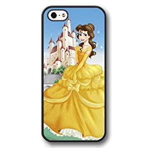 Disney Cartoon Beauty and The Beast, Hard Plastic Case for iPhone 5 - Personalized Disney iPhone 5/5s Case - Black