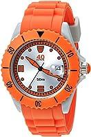 40Nine Quartz Plastic and Silicone Casual Watch; Color:Orang