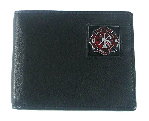 Leather Bi-fold Wallet - Fire Fighter (Firefighters Accessories)