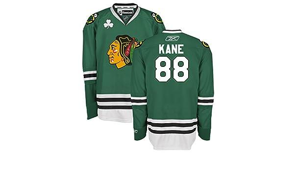57b4c661099 Amazon.com : Chicago Blackhawks Youth Patrick Kane #88 St. Patrick's Day  Premier Jersey Reebok NHL Official (Small/Medium) : Sports & Outdoors
