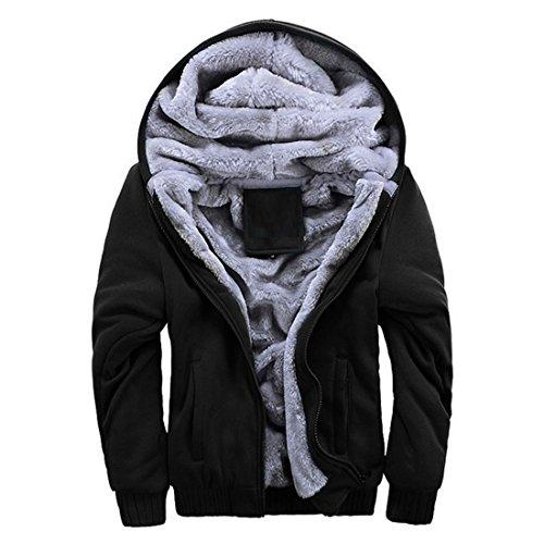 shirts Chaud Outwear Hoodie À Sweats Hiver Homme Noir Sweat Casual Polaires Doublé Épaisse Veste Capuche Vertvie qw74FTEx