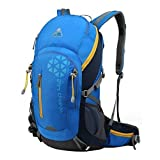 Kimlee Internal Frame Pack Hiking Daypack Camping Backpack Trekking Outdoor Gear, Sky Blue For Sale