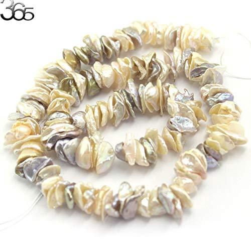 Calvas Pearl: 10-12mm Biwa Baroque Reborn Keshi Pearl Beads Natural Pearl Loose DIY Beads for Jewelry Making Strand 15
