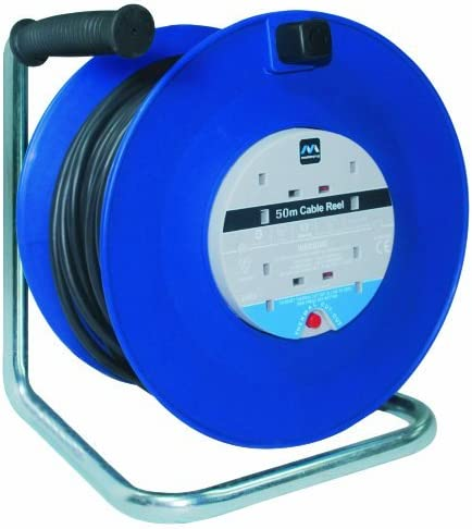 masterplug HDCC5013//4BL-MP Masterplug HDCC5013//4BL 50m 13A 4-Socket Open Cable Reel