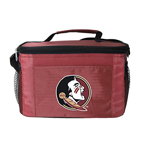 (NCAA Florida State Seminoles Team Logo 6 Can Cooler Bag or Lunch Box - Red)