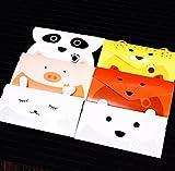 Creve Merry Christmas Xmas Cute Animal Design Money holders Money Envelope with message space 6pcs set