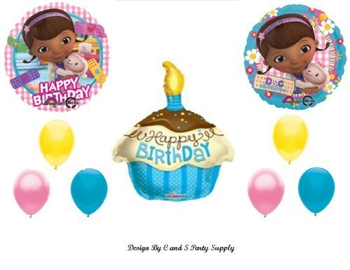 Doc McStuffins CUPCAKE Happy Birthday PARTY balloons Decorations