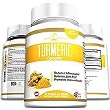 Turmeric Curcumin Organic Powder Capsules - Extra Strength 95% Standardized Curcuminoids, Best Antioxidant with Potent Anti-Inflammatory Properties for Heart, Joint and Brain Health, Premium Grade Non-GMO Vegetarian Dietary Supplement, Made in USA