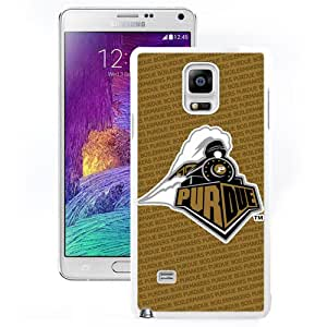 Fashionable And Unique Designed With Ncaa Big Ten Conference Football Purdue Boilermakers 12 Protective Cell Phone Hardshell Cover Case For Samsung Galaxy Note 4 N910A N910T N910P N910V N910R4 White