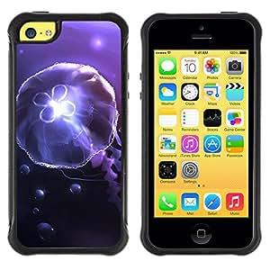 LASTONE PHONE CASE / Suave Silicona Caso Carcasa de Caucho Funda para Apple Iphone 5C / Underwater jellyfish Amoba