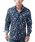 Joe Browns Men's Freemont Floral Shirt, Navy, Large