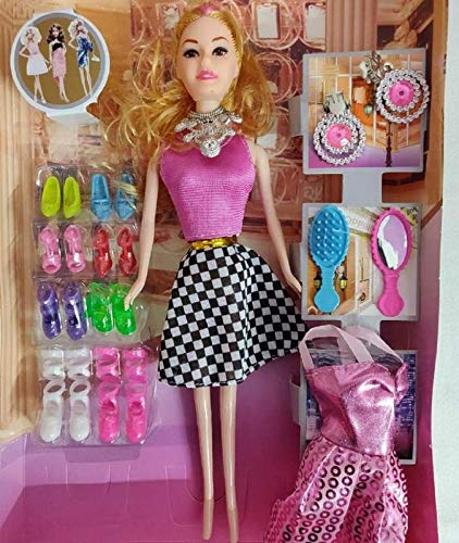 285cdcd2b5d65 Buy Barbie Girl Doll Series with Doll Dresses Set for Kids ...