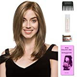 Mega Mono by Ellen Wille, Wig Galaxy Hair Loss Booklet, 2oz Travel Size Wig Shampoo, Wig Cap, & Wide Tooth Comb (Bundle - 5 Items), Color Chosen: Chocolate Mix