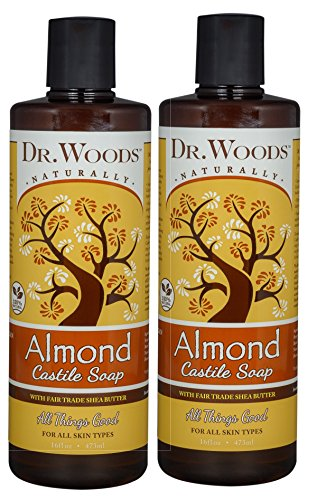 (Dr. Woods Pure Almond Liquid Castile Soap with Organic Shea Butter, 16 Ounce (Pack of 2))