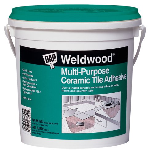 Dap 25190 Weldwood Multi-Purpose Ceramic Tile Adhesive, 1-Quart (Best Thinset For Glass Tile)