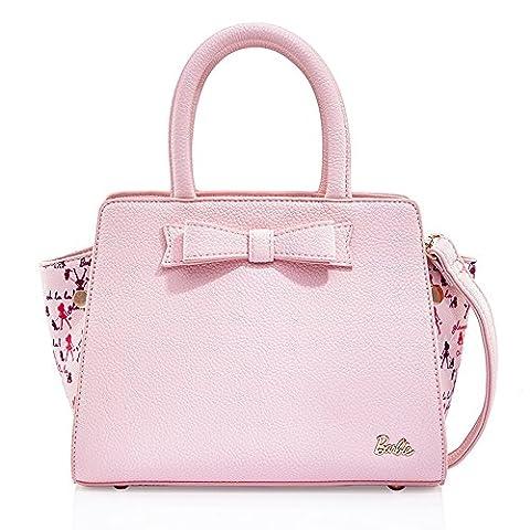 Barbie Princess Series Simple Elegant Bowknot Handbag&Cross-body Bag #BBFB334 (standard, pink)