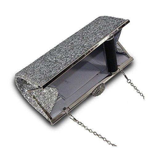 Gorgeous Handbag Assorted Sparkly Clutch Glitter Fashion Sliver for Party Sliver Handbag Purse Evening AllRight Women Prom Bag wEqRBB