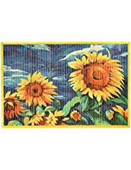 Kitchen Rugs Area Rugs 2 Ft By 3 Ft Bamboo For Indoor Or Outdoor Patio Rug  Sunflower