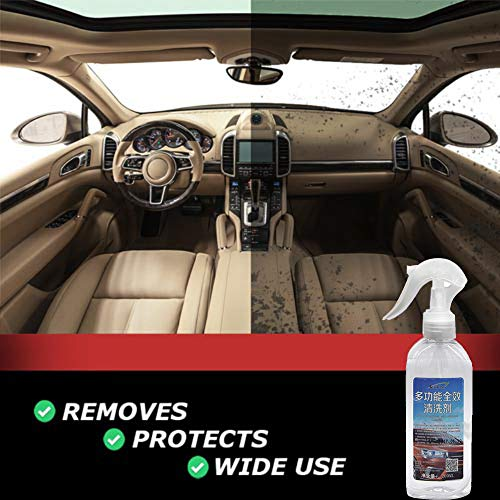 Voberry Car Interior Cleaner - Super Cleaner - Effective All Purpose Cleaner - New Multi-Functional Car Interior Agent Universal Auto Car Cleaning Agent (White)