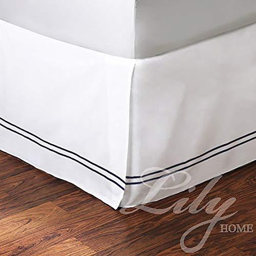 noir 200x200cm Jupe de lit antidérapante,Jupe de lit à Volants 100% Coton de qualité supérieure,Tissu de qualité hôtelière antirides de Couleur Unie-avec Plateforme,Chute de 13,7 Pouces,noir,200x200cm