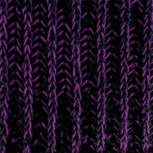 (Black/Purple Wool Blend Sweater Rib Knit, Fabric by The Yard)