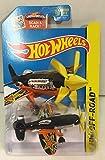Hot Wheels 2015 HW Off-Road Mad Propz (Airplane) 92/250, Black and Orange