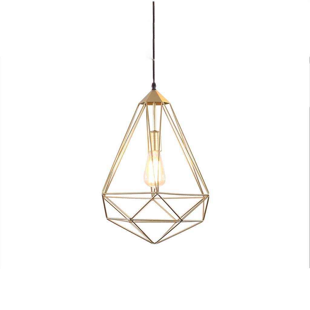 Nordic Industrial Style Wrought Iron Single Head Chandelier, Bar Table Lamp Shop Lamp Chandelier Retro Decorative Chandelier (B)