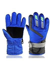YR.Lover Children Ski Gloves Winter Warm Outdoor Riding Thickening Gloves(2-4Y)