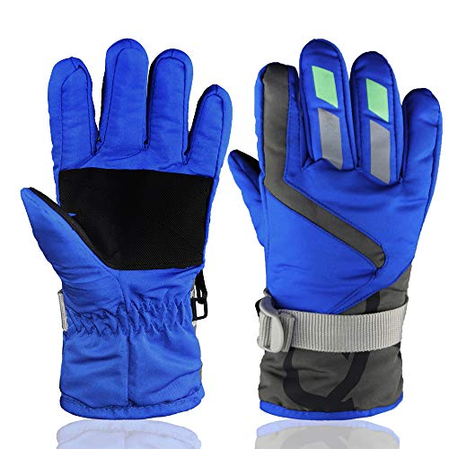 YR.Lover Children Ski Gloves Winter Warm Outdoor Riding Thickening Gloves(2-4Y)