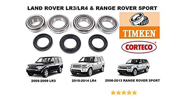Amazon.com: LAND ROVER LR3 LR4 RANGE ROVER SPORT FRONT DIFFERENTIAL BEARING KIT DIFF REBUILD: Automotive