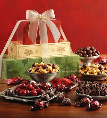 (Holiday Sweets Tower - Gift Baskets and Fruit Baskets - Harry and David)
