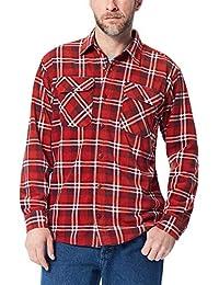 Authentics Men's Long Sleeve Plaid Fleece Shirt