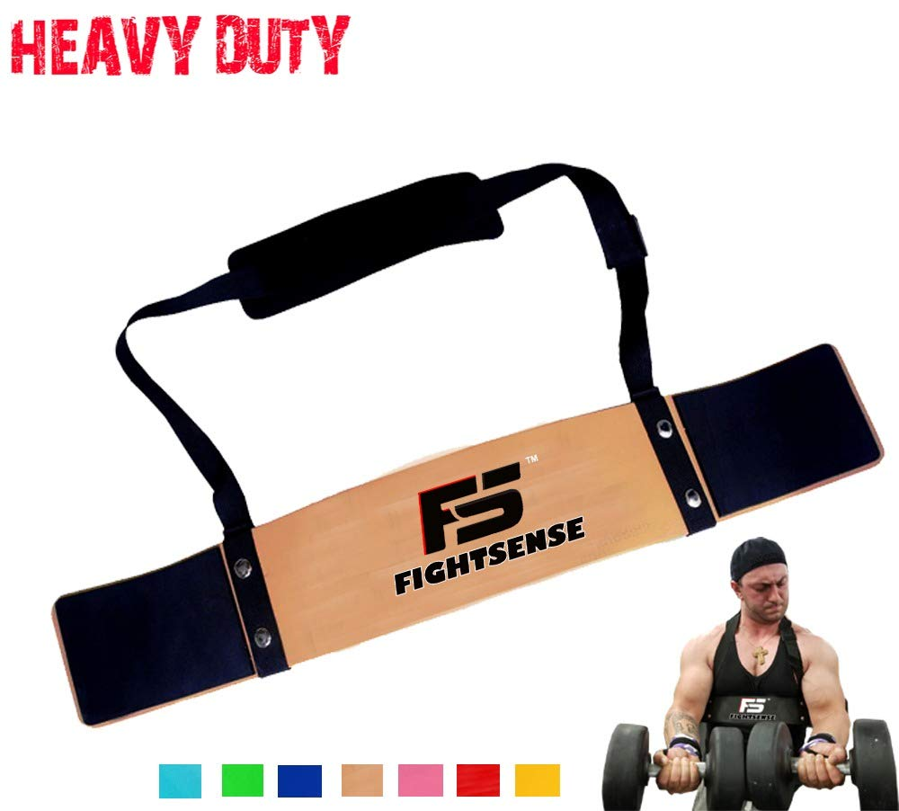 FIGHTSENSE Arm Blaster Biceps Curl Triceps Muscle Isolator Bomber Fitness Gym Workout Training Support (Gold)