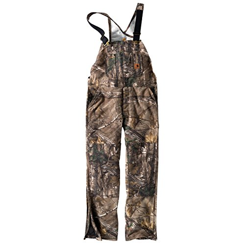 Carhartt Men's Quilt Lined Camo Bib Overalls,Realtree Xtra,Large Short by Carhartt