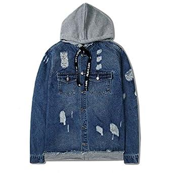 6e6e916886 Amazon.com: Taylor Heart New design Denim Jacket Men Fake Two Piece ...