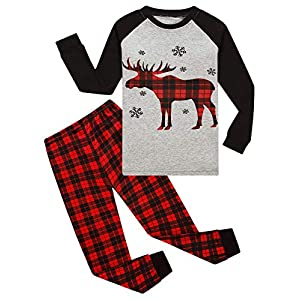 Best Epic Trends 51XuRbhf0BL._SS300_ Dolphin&Fish Boys Christmas Pajamas Kids Sleepwear Long Sleeve Sets Toddler Cotton Clothes Size 7 Gray