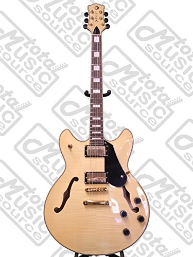 Luna ATH 501 NAT Athena Semi-Hollow-Body Electric Guitar, Gl