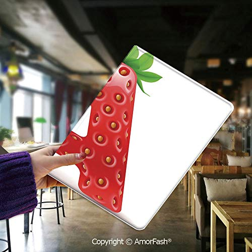 Cover for Samsung Tab E,flip Cover for Samsung Galaxy Tab E 9.6 Cases and Covers,Letter A,Letter A in Strawberry Style with Green Leaves Alphabet Fun Food Theme Decorative,Vermilion Green Orange