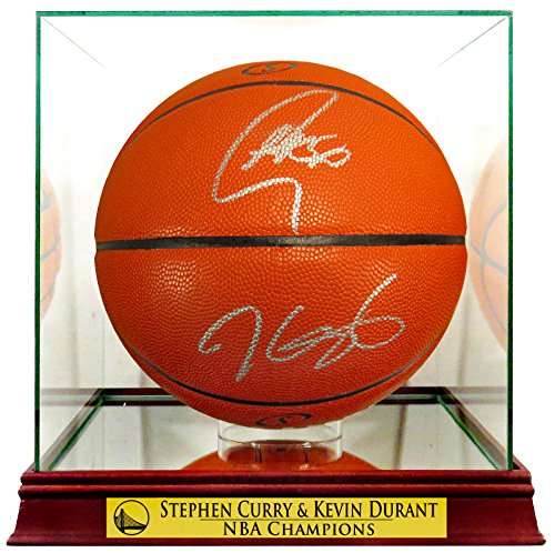Kevin Durant Autographed Basketball - GS Warriors Stephen Curry & Kevin Durant Autographed Basketball (w/