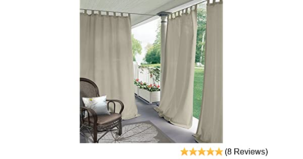 Amazon.com : Blackout Outdoor Curtain Tab Top Beige 84