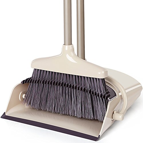 broom and dustpan with handle set - 1