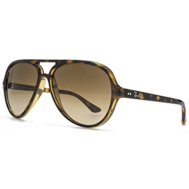 Ray-Ban CATS 5000 Aviator Sunglasses in Light Havana Crystal Brown Gradient  RB4125 710/
