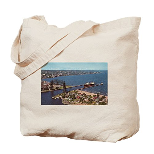 CafePress - Duluth Harbor - Natural Canvas Tote Bag, Cloth Shopping - Mn Duluth Shopping