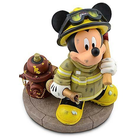 Disney Parks Fireman Mickey Mouse Medium Big Fig Figure (Fireman Mickey Mouse)
