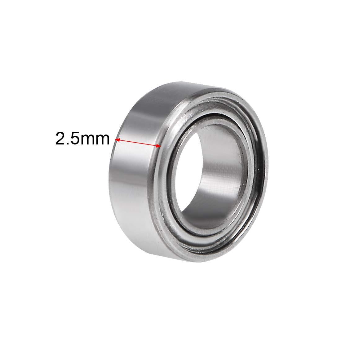 4x7x2.5mm Ball Bearings SMR74ZZ 10pcs Stainless Steel Deep Groove Bearings