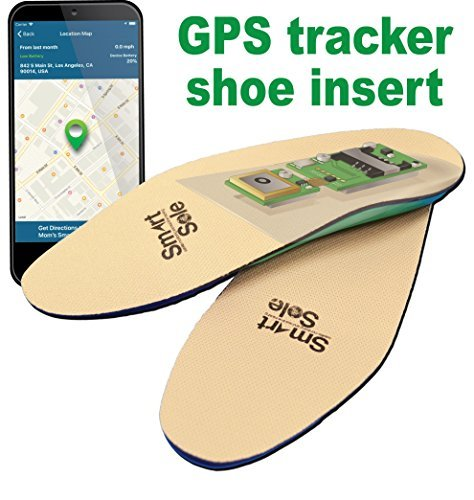GPS SmartSole Hidden Wearable Tracker in Shoe for Monitoring Wanderers